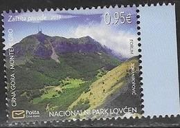 MONTENEGRO, 2019, MNH,ENVIRONMENT PROTECTION, MOUNTAINS, LOVCEN NATIONAL PARK,1v - Géologie