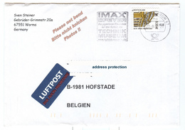 Briefzentrum 67 23.09.2004 IMAX Speyer Gigantische Filmerlednig Film Experience Technik Museum Url - [7] République Fédérale