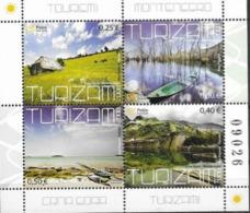 MONTENEGRO, 2008, MNH, TOURISM, BOATS, BEACHES, SHEETLET - Holidays & Tourism