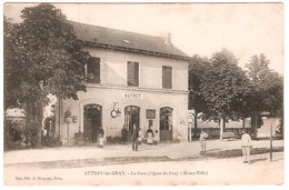 AUTREY-LES-GRAY.LA GARE.(LIGNE DE GRAY A IS-SUR-TILLE) ANIMEE - Francia