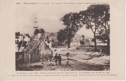 CPA Port-Louis - Il Y A 50 Ans - Le Quartier Saint-Pierre - Avant La Construction Des Remparts Du Driasquer Vers 1676... - Port Louis