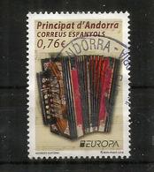 ANDORRA ESPAÑOL 2014.  L'Accordéon Diatonique, Un T-p Oblitéré ,EUROPA 2014, 1 ère Qualité - Andorre Espagnol