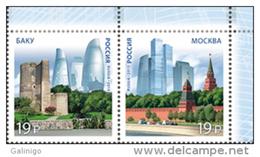 2015 Pair (Set) Russia Russland Russie Rusia Joint Issue With Azerbaijan. Modern Architecture Mi 2219-2220 MNH ** - Ongebruikt