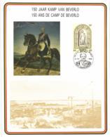 Belgium 1985 COB  Commemoration Card Fonds Roman 21-9-1985, Camp Of Beverlo 150 Year, Leopold I, General Chazal - Souvenir Cards