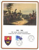 Belgium 1986 COB 1927 Commemoration Card Fonds Roman 31-5-1986, Field Artilry 2A 150 Year, Veldartillerie - Cartes Souvenir