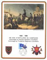 Belgium 1986 COB 1927 Commemoration Card Fonds Roman 31-5-1986, Field Artilry 1A And 3A, Artillerie De Campagne - Souvenir Cards