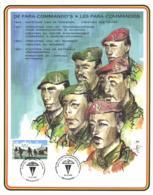 Belgium 1987 COB 2188 Commemoration Card Fonds Roman 19-12-1987, 40 Year Training Center Para And Commands, Schaffen - Souvenir Cards