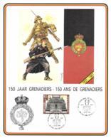 Belgium 1988 COB 1477 Commemoration Card Fonds Roman 11-6-1988, Regiment Grenadiers 150 Year - Cartes Souvenir