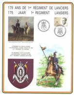 Belgium 1989 COB 2127 Commemoration Card Fonds Roman 18-5-1989, 1st Lancers Regiment, Light Cavalry, Horse - Cartes Souvenir