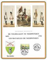 Belgium 1993 COB 2493 Commemoration Card Fonds Roman 13-3-1993, The Battles Of Neerwinden 1693-1793, Horse Cavalry - Souvenir Cards