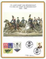 Belgium 1995 COB 2559 Commemoration Card Fonds Roman 17-6-1995, Camp Of Brasschaat 175 Year, Artilry School - Souvenir Cards