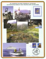 Belgium 2001 COB 2932 Commemoration Card Fonds Roman 9-6-2001, Belgica 2001, Operations In Kosovo And Balkan - Souvenir Cards