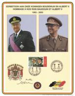 Belgium 2003 COB 3201 Commemoration Card Fonds Roman 9-8-2003, King Baudouin And Albert II - Cartes Souvenir