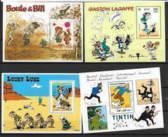 France 2000 à 2003 Blocs 28-34-46 Et 55 N° 91 Neufs Bandes Dessinées à La Faciale - Blocks & Kleinbögen