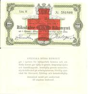 Sweden Newprint Riksdaler  EN Riksmynt, Issued By Svenska Røda Korset, Red Cross - Svezia
