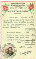 IMPOTS D'AMOUR. AVERTISSEMENT. - Humour