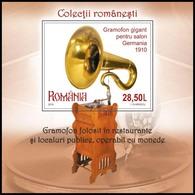 ROMANIA, 2019, Romanian Collections GRAMOPHONES, Music, Home Appliances, Souvenir Sheet, MNH (**); LPMP 2266a - 1948-.... Repúblicas