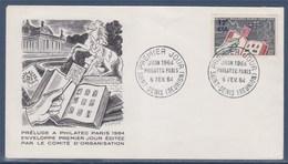 = Enveloppe 1er Jour Philatec Paris1964 Saint Denis De La Réunion 8 FEV. 64 N°359 - Covers & Documents