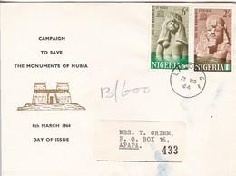 FCD Nigeria - Save The Monuments Of Nubia - 1964 (45905) - Nigeria (1961-...)