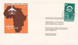 Airmail Nigeria - Inaugural Flight West Africa - Lufthansa - 1962 (45906) - Nigeria (1961-...)