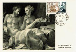 """1967 - CM - Compositeur Gabliel FAURE """"Ulysse Et Pénélope"""" Le Prématice - Obl Spéciale Fontainebleau - Tp N°1473 - 1960-69"""