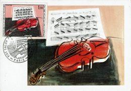 """1965 - CM - Œuvre De Raoul DUFY """"Le Violon Rouge"""" - Obl 19e Salon D'Automne - Tp N°1459 - 1960-69"""