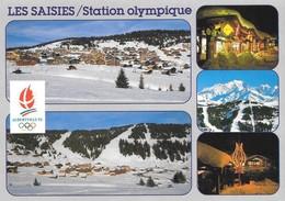 73 Les Saisies Station Olympique Divers Aspects (2 Scans) - Otros Municipios