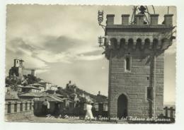REP. S.MARINO - LE TRE TORRI VISTE DAL PALAZZO DEL GOVERNO VIAGGIATA  FG - San Marino