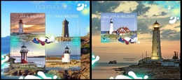 Phare Lighthouse Vuurtoren Leuchttürme Faro Fari MALDIVES 2014 NEUF** MNH - Lighthouses