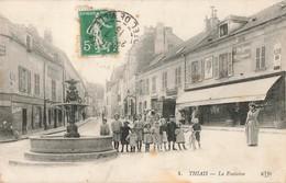 94 Thiais La Fontaine Cpa Carte Animée - Thiais