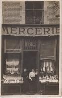 CP Photo (Nîmes) - Mercerie De Mle Bois - Au Verso, Texte écrit Et Signé Par Mathéa Bois - Nîmes