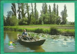 Clairmarais (62) L'escute (embarcation Typique Du Marais) ISNOR Tourisme Fluvial 3 Rue Du Marais 2scans Carte Animée - Autres Communes