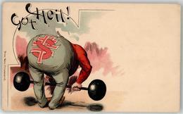 53141553 - Gewichtheben Gut Heil Humor - Cartoline