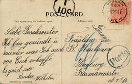 AUSTRALIA / VICTORIA     -   UP TRAIN  M.G.4   , Victoria  , Postcard To Hamburg - 1850-1912 Victoria