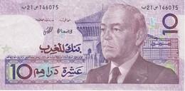 BILLETE DE MARRUECOS DE 10 DIRHAMS  AÑO 1987 CALIDAD EBC (XF) (BANKNOTE) - Marruecos