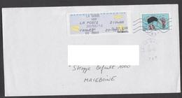ENGLAND, COVER / AIR MAIL, BIRDS, REPUBLIC OF MACEDONIA ** - 2000 «Avions En Papier»