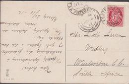 1912. VESTBANERNES POSTEXP. 21 X 12. 10 ØRE Posthorn To Wedburg, Windsorton, South Af... (MICHEL 79) - JF309962 - Noorwegen
