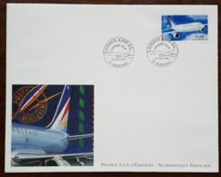 FDC Grand Format 1999 - YT Aérien N°63 - AIRBUS A300-B4 - BLAGNAC - 1990-1999