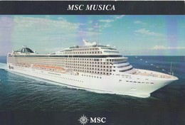 POSTAL DEL CRUCERO MSC MUSICA. (640) - Barcos