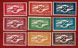 Portugal 1936/41 Airmail MNG #01/09 - Poste Aérienne