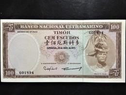 Timor, 100 Escudos, 1963, Régulo D. Aleixo - Timor