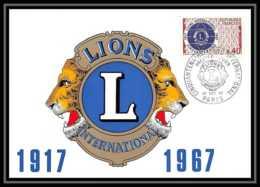 2136/ Carte Maximum (card) France N°1534 Lions International Fdc Premier Jour - Cartes-Maximum