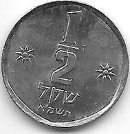 *israel 1/2 Sheqal1981  Km 109   Unc /ms63!!! - Israel