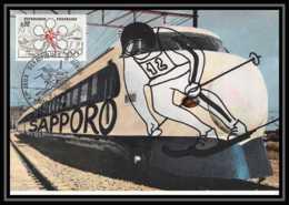 2662/ Carte Maximum (card) France N°1705 Jeux Olympiques (olympic Games) Sapporo Japan 1972 - Cartes-Maximum
