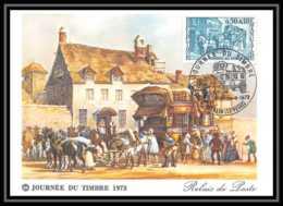 2802/ Carte Maximum (card) France N°1749 Journée Du Timbre 1973 Relais De Poste Thaon-les-Vosges - 1970-79