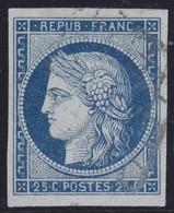 N°4a Bleu Foncé, Très Grandes Marges, TTB. - 1849-1850 Ceres