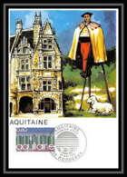 3127/ Carte Maximum (card) France N°1864 Région Aquitaine - 1970-79