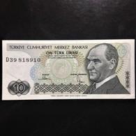 Turkey, 10 Lira, 1970 - Turkije