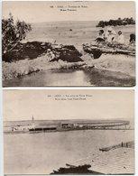LOT 2 CP EGYPTE *  SUEZ Fontaine De Moïse (animée) & Vue Prise De Terre Pleine - Suez