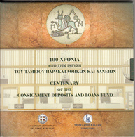 GREECE - Centenary Of The Consignment Deposits And Loans Fund, 5 Euro Coin, Tirage 4000, Unused(with Folder) - Grecia
